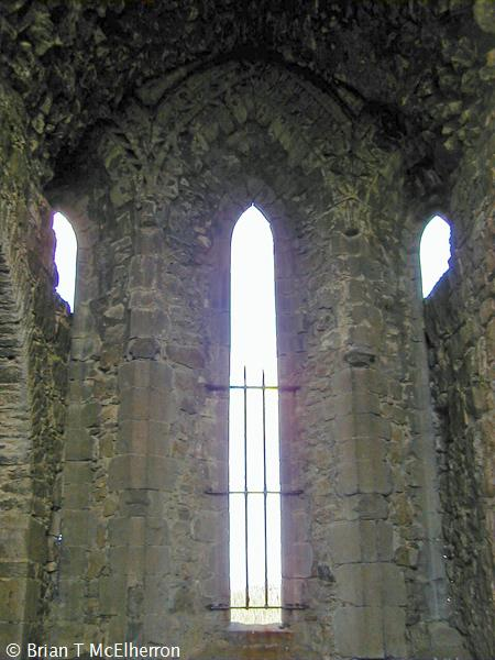 The lancet windows in the chapter house