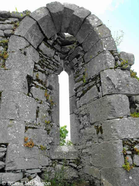 Window in the south wall
