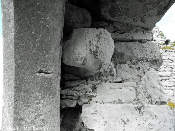 The hinge stone at the south doorway