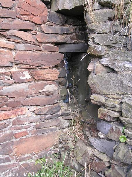 Detail of wall showing partly blocked window